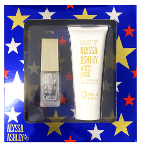 ALYSSA ASHLEY Confezione regalo white musk eau de toilette 15ml + corpo 100ml