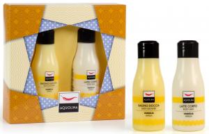 AQUOLINA Confezione regalo colorful life vaniglia bagno + latte corpo