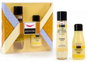 AQUOLINA Confezione regalo window yellow vaniglia bagno + acqua corpo
