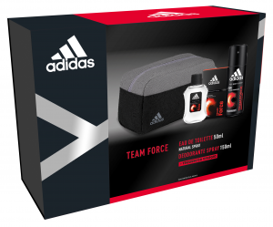 ADIDAS Idea Regalo Eau De Toilette Trousse Deodorante Team Force Profumo 150 ml