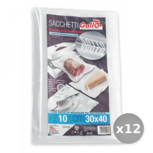 Set 12 GALLO Sacchi Sottovuoto 30x40 x 10 Pezzi Contenitori per la Cucina