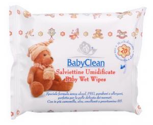 BABY CLEAN Salviette Baby Per igene Bambino 20 Pezzi