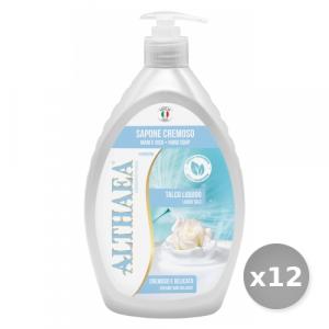 Set 12 ALTHAEA Sapone liquido talco 750 ml prodotto detergente per le mani