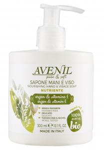 AVENIL Sapone Liquido Nutriente Argan Vitamina E Cura del corpo 300 ml