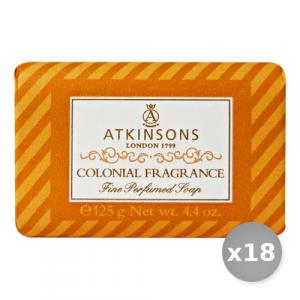 Set 18 ATKINSONS Saponetta Colonial 125 gr Saponi e Cosmetici