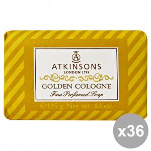 Set 36 ATKINSONS Saponetta GOLDEN COLOGNE 125 gr Saponi E Cosmetici