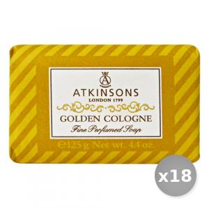Set 18 ATKINSONS Saponetta Golden Cologne 125 gr Saponi e Cosmetici