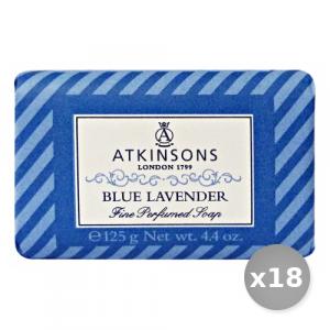Set 18 ATKINSONS Saponetta blu Lavanda 125 gr Saponi e Cosmetici