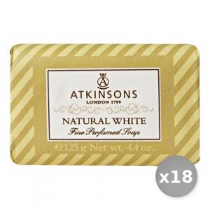 Set 18 ATKINSONS Saponetta Naturale White 125 gr Saponi e Cosmetici