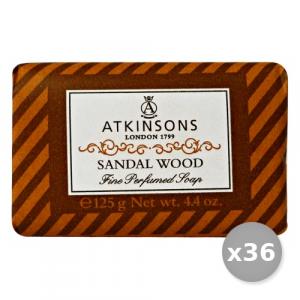 Set 36 ATKINSONS Saponetta Sandal WOOD 125 gr Saponi E Cosmetici