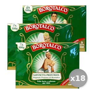 Set 18 BOROTALCO Saponette x 2 Pezzi 100 gr Saponi e Cosmetici