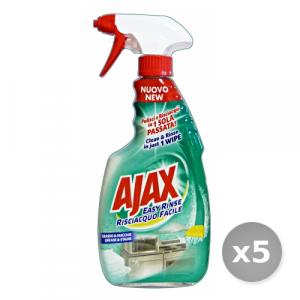 Set 5 AJAX Sgrassatore Easy Grasso e Macchie  600 ml Detergenti Casa