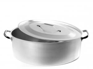 AGNELLI Casseruola Ovale in alluminio Spessore 3 mm Con Coperchio Cm 40 - 126
