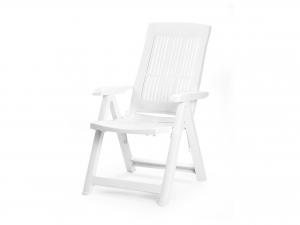 Poltrona Pieghevole Tampa Colore Bianco 5 Posizioni