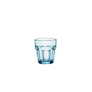 BORMIOLI ROCCO Set 6 Bicchieri Vetro Rockbar Rocks Cl27 Azzurro