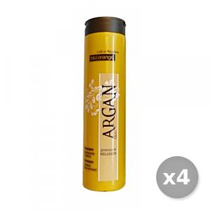 Set 4 BLU ORANGE Argan Shampoo Nutriente 200 ml Prodotti Per capelli