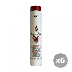 Set 6 DIKSON Keiras shampo protezione attiva colore 250 ml articolo per capelli