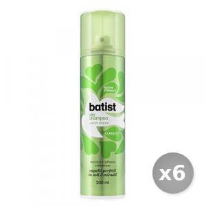 Set 6 BATIST Shampoo Secco 200 ml Classico Prodotti per Capelli