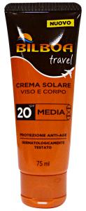 BILBOA Fp20 minitaglia viso/corpo 75 ml prodotto solare per la pelle