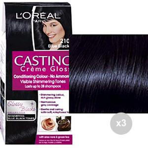 Set 3 CASTING Casting creme gloss 210 nero blu. tinta colorata per capelli