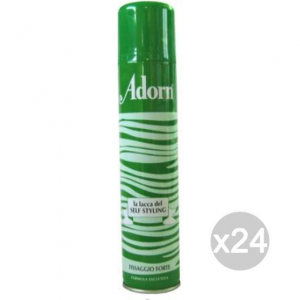 Set 24 ADORN Lacca Spray Fort/Ver 200 Messa In Piega E Acconciatura Capelli