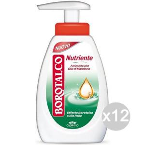 Set 12 BOROTALCO Sapone Liquido 250 Nutriente Cura E Pulizia Del Corpo