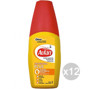 Set 12 AUTAN Plus Spray 100 Ml Giallo Repellente Insetticida