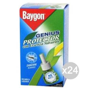Set 24 BAYGON Genius Ricarica Liquido 45 Notti Repellente Insetticida