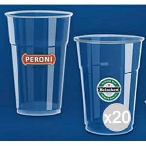 Set 20 ARISTEA 50 Bicchiere 300 Cc Trasparente Pet206002 Per La Cucina E La Tavola