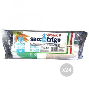 Set 24 VIROSAC Sacchi frigo rotolo 23x32 pezzi 80 contenitore per alimenti