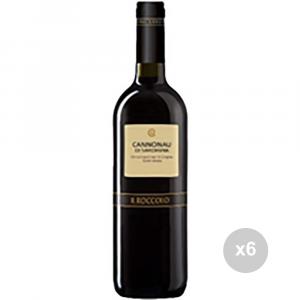Set 6 VERGA Vino cannonau sardo 750 13,5ø bevanda alcolica da tavola