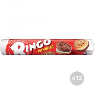 Set 12 RINGO Biscotti tubo vaniglia gr. 165 snack dolce