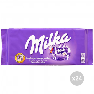 Set 24 MILKA Cioccolata tavoletta latte gr. 100 4044357 snack dolce