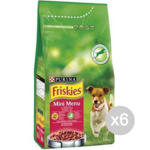 Set 6 FRISKIES Cane Croccantini Kg 1,5 Mini Menu Manzo Alimento Per Cani