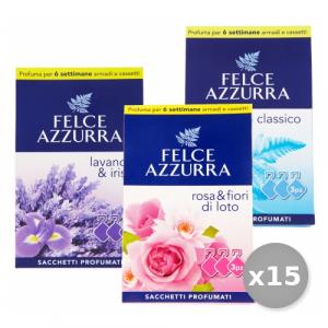 FELCE AZZURRA Set 15 Sacchetti Profumata X 3 Pezzi Riordino