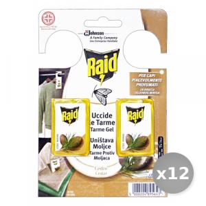Set 12 RAID Tarmicida Cedro 2 Pezzi Articoli per Insetti