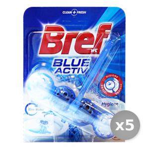 Set 5 BREF Tavoletta wc Blue Active Palline