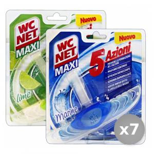 Set 7 WC NET Tavolette wc con Deodorante Clip 5 Azioni Detergenti Casa