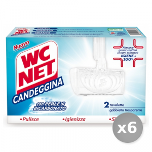 Set 6 WC NET Tavolette wc Solide Candeggina * 2 Pezzi Detergenti Casa