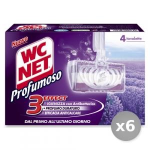 Set 6 WC NET Tavolette wc Solide Lavanda * 4 Pezzi 3effect Detergenti Casa