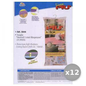 LINEA Più Set 12 StiroMOLL Telo Per Asse Da Stiro ALTO-Spessore 140X50 Cm Articolo 0444 Bucato