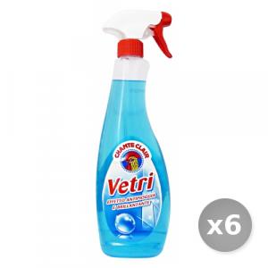 Set 6 CHANTE CLAIR Vetri Trigger 625 ml Detergenti Casa