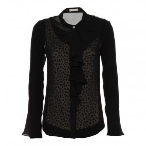 Camicia nero/animalier Nero Giardini