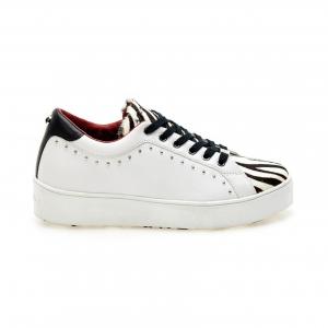 Sneaker bianca/zebrata Apepazza