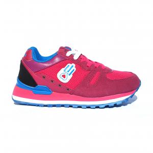 Sneaker fuxia/azzurra Kamsa
