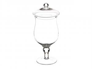 Scatola Potiche in vetro con coperchio per confettata caramellata cm.45h diam.18,5