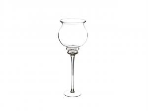 Vaso calice in vetro gigante cm.71h diam.23