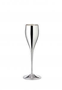 Flute Champagne argentato 200ml cm.23,5h diam.5,5