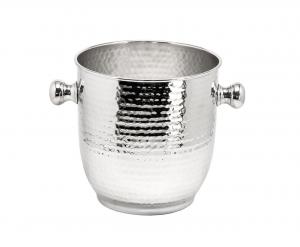 Secchiello Champagne stile martellato cm.30x20,5h diam.20