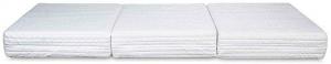EVERGREENWEB - Pouf Letto con Rivestimento Grigio Sfoderabile trasformabile in Confortevole Materasso Singolo 80x190 WATERFOAM alto 15 cm, Pieghevole 3 Pezzi MULTIUSO Puff Futon Salvaspazio per OSPITI